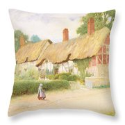Ann Hathaway's Cottage Throw Pillow