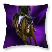 Ann Knight Karrasch On Horse Coral Reef Aajee Throw Pillow