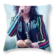 Ann Wilson Of Heart At 1981 Day On The Green In Oakland Ca Throw Pillow