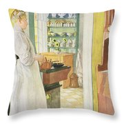 Anna Arnbom , Pub. In Lasst Licht Hinin Throw Pillow