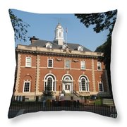 Annapolis Main Post Office Throw Pillow