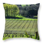Anne Amie Vineyard Lines 23093 Throw Pillow