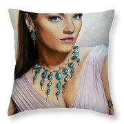 Anne Baxter In Ten Commandments  @ Ariesartist.com Throw Pillow