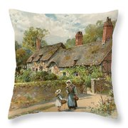 Anne Hathaway's Cottage At Shottery Throw Pillow