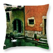 Annecy Swan Throw Pillow