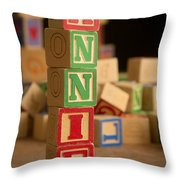 Annie - Alphabet Blocks Throw Pillow