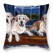 Annie And Her Sisters Throw Pillow