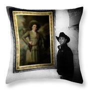 Annie Oakley With A Cowboy Throw Pillow