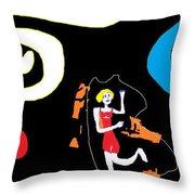 Annie Skipping Time Throw Pillow