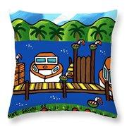 Annie's Dock - Cedar Key Throw Pillow