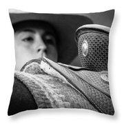 Annie's Saddle Throw Pillow by Steven Bateson
