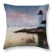 Annisquam Harbor Lighthouse Throw Pillow