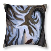 Annisquam Lighthouse Fantasy Throw Pillow