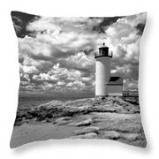 Annisquam Lighthouse Infrared Throw Pillow