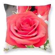 Anniversary Roses With Love 1 Throw Pillow