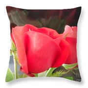 Anniversary Roses With Love 2 Throw Pillow