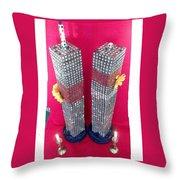Twin Towers Memorial Sculptures Throw Pillow