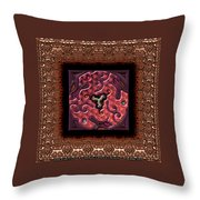 Annuals Poppies  Throw Pillow
