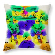 Another Blueprint In Abstract Throw Pillow