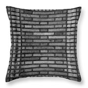 Another Brick In The Wall In Black And White Throw Pillow