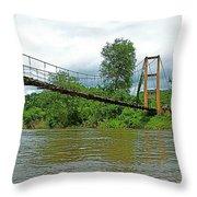 Another Bridge Over River Kwai In Kanchanaburi-thailand Throw Pillow
