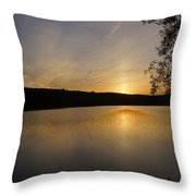 Another Day Ends Throw Pillow