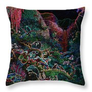 Another Day In Paradise - Digital 1 Throw Pillow