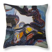Another Dreamtime Throw Pillow