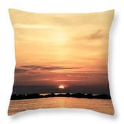 Another Earth - Sunrise On The Sea Throw Pillow