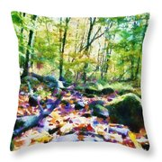 Another Enchanted Forest Throw Pillow