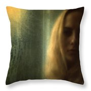 Another Face In A Window II Throw Pillow