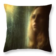 Another Face In A Window Throw Pillow by Taylan Apukovska