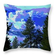 Another Fine Day On Planet Earth Throw Pillow