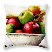 Another Fruit Bowl Throw Pillow
