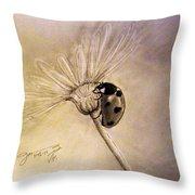 Another Ladybug Throw Pillow