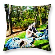 Another Luncheon On The Grass Throw Pillow
