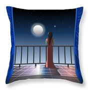 Another Night Alone Throw Pillow