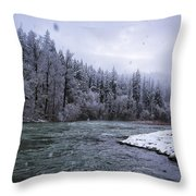 Another Snowy Day Throw Pillow