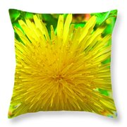 Another Variety Dandelion Throw Pillow