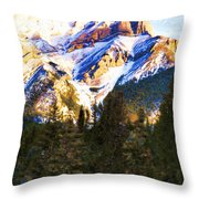 Another View Of My Mountain Throw Pillow