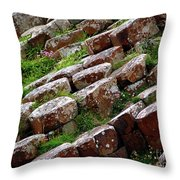 Another View Of The Giant's Causeway Throw Pillow