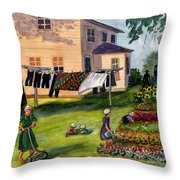 Another Way Of Life II Throw Pillow by Marilyn Smith