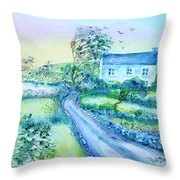 Another Windy Day On Cleare Island Ireland   Throw Pillow