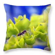 Ant Hydrangea Throw Pillow