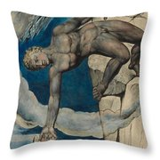 Antaeus Setting Down Dante And Virgil In The Last Circle Of Hell Throw Pillow