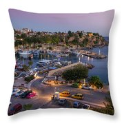 Antalya Harbour Throw Pillow