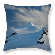 Antarctic Landscape Throw Pillow