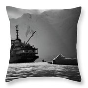 Antarctican Expedition 2013.  Ship Name Throw Pillow