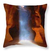 Antelope Canyon 17 Throw Pillow