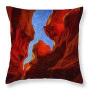 Antelope Canyon 30 Throw Pillow